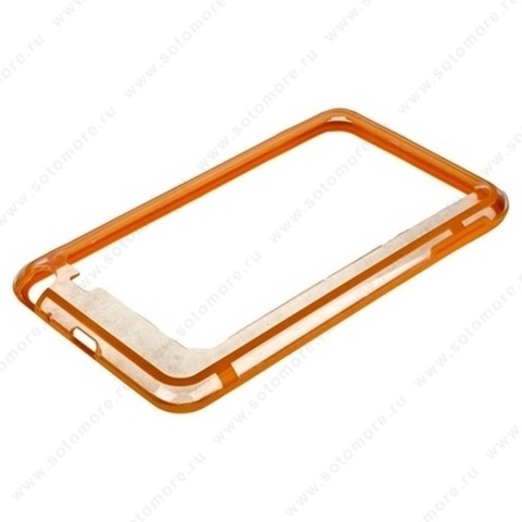 Бампер VSER для Samsung Galaxy Note N7000 оранжевый