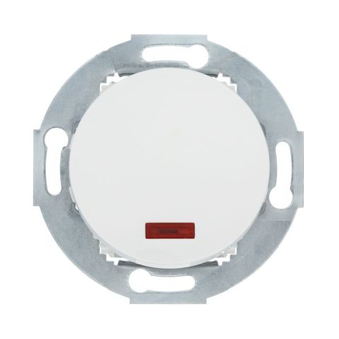 Выключатель одноклавишный (схема 1L) с индикатором 10А, 250В. Цвет Белый. LK Studio Vintage (ЛК Студио Винтаж). 880204-1
