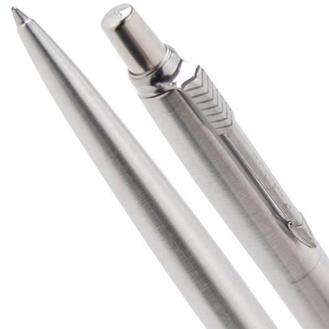 Шариковая ручка Parker Jotter Steel K61, цвет: Steel CT, стержень: Mblue123