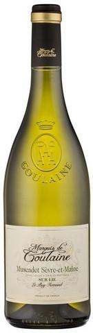 Вино Marquis de Goulaine, Muscadet de Sevre et Maine Sur Lie AOP, 0.75 л