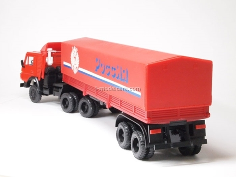KAMAZ-5410 with semitrailer ODAZ with awning Russia red Elecon 1:43