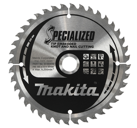 Диск Makita, для демонтажных работ 185х30х2 мм /20