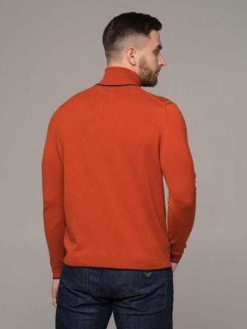 Мужской джемпер оранжевого цвета из 100% кашемира - фото 2