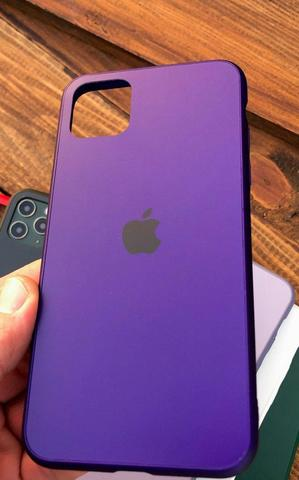 Чехол iPhone XS Max Glass Pastel Matte silicone /ultra violet/