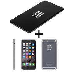 Комплект для iphone 6/6s: беспроводная зарядка Zentu S7 black + ресивер на выбор