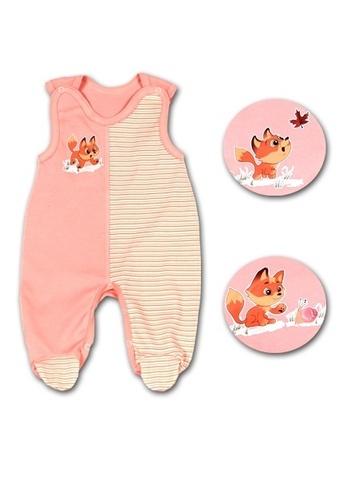 Детские ползунки длинные для новорожденных Лисенок (арт. ППг44)