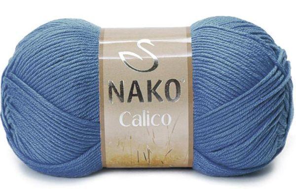 Пряжа Nako Calico джинс 6614