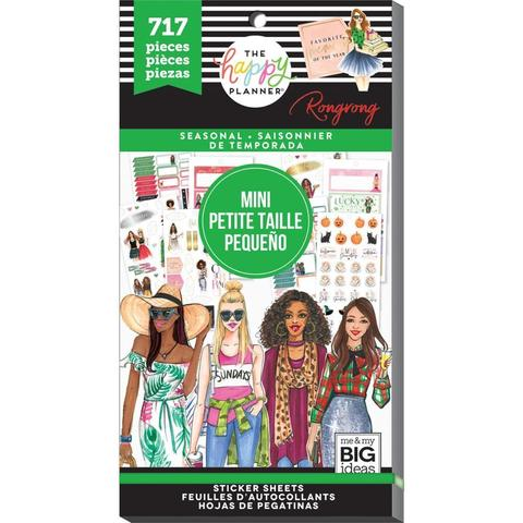 Стикербук Happy Planner X Rongrong Mini Sticker Value Pack - Seasonal