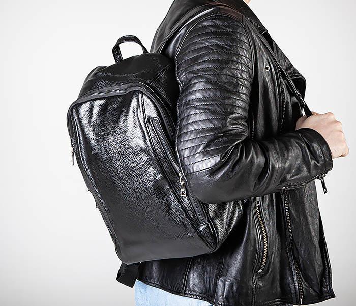 BAG558 Кожаный мужской рюкзак для города