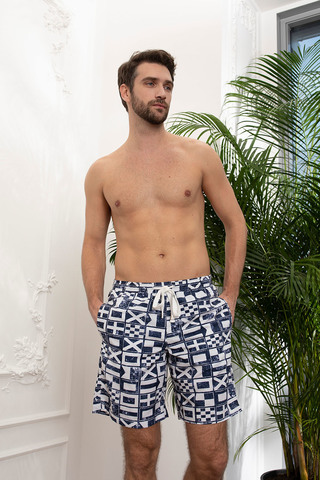 Мужские шорты 18180-4 синий Laete