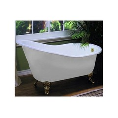 Ванна чугунная классическая Magliezza Beatrice 153x76,5 в компелкте с ножками бронза