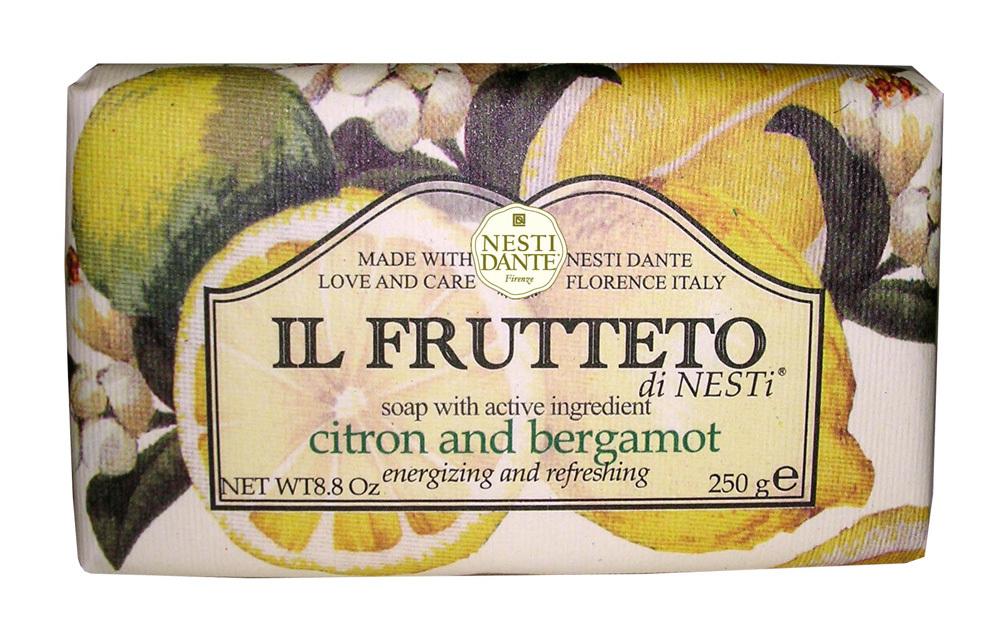 IL FRUTTETO  Citron & Bergamot / Лимон и бергамот мыло 250 гр