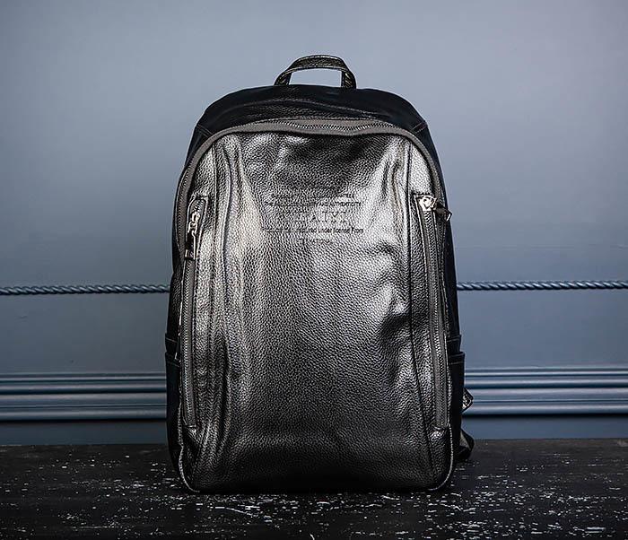 BAG558 Кожаный мужской рюкзак для города фото 03