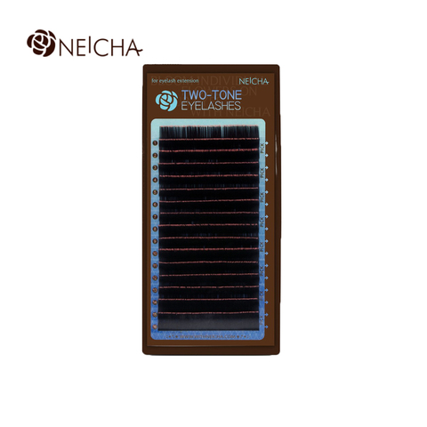 Ресницы NEICHA нейша MIX 16 линий двухцветные черно-розовые