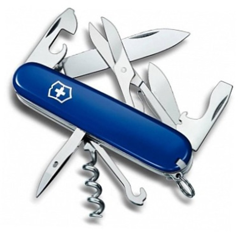 Складной многофункциональный нож Victorinox Climber Blue (1.3703.2R) 91 мм., цвет синий