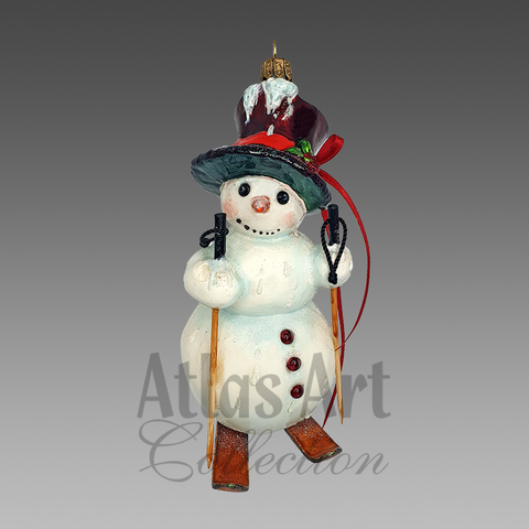 Новый год!  Снеговик домой идёт...