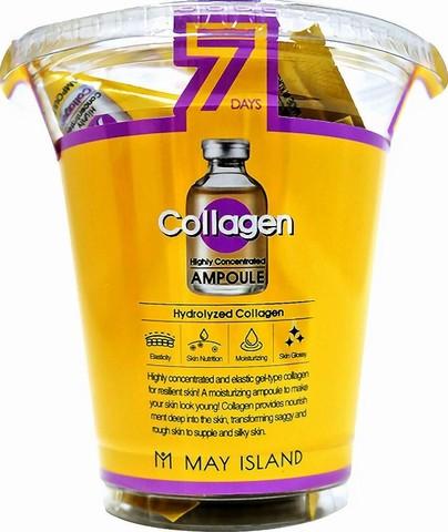 MAYISLAND 7Days  Набор cывороток для лица коллаген May Island Seven Days Collagen Ampoule 12шт*3мл