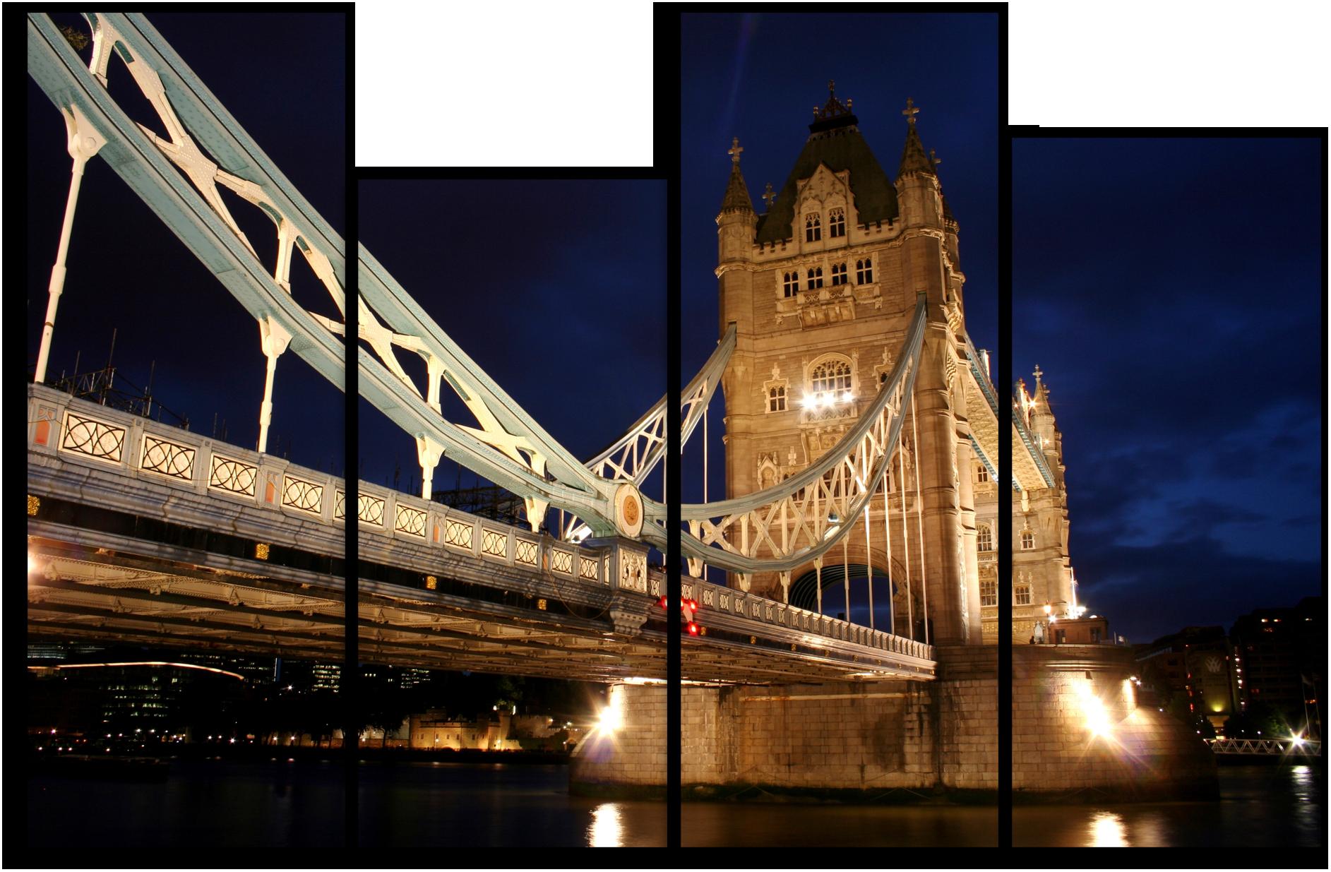 """Города Модульная картина """"Тауэрский мост Лондон"""" М883.png"""