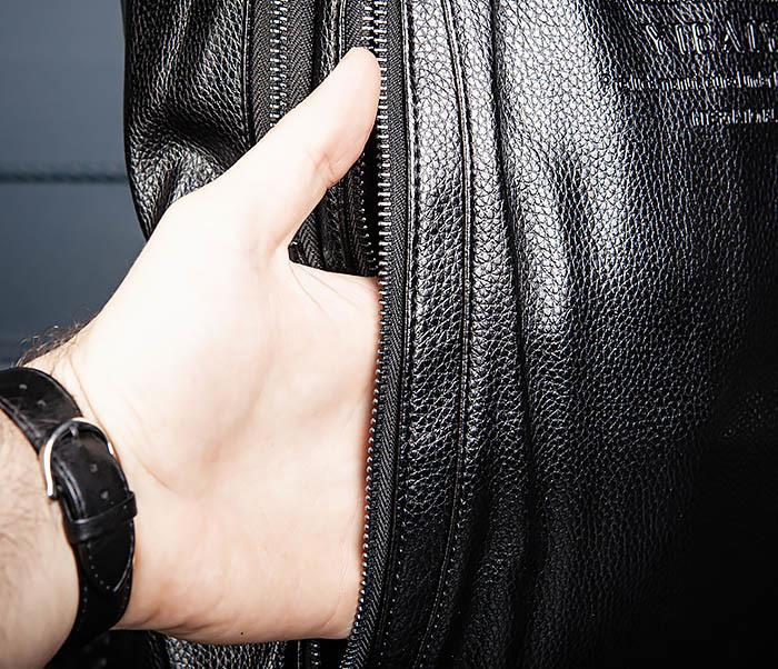 BAG558 Кожаный мужской рюкзак для города фото 05