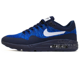 Кроссовки Мужские Nike Air Max 1 Hyper Flyknit  Blue White