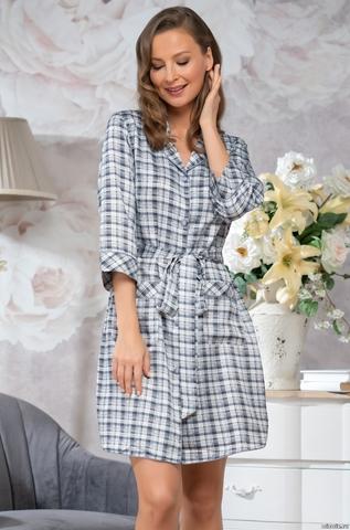 Рубашка халат на пуговицах  Mia-Mella SHIRLEY ШИРЛИ 8627