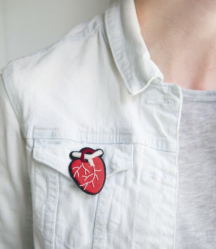 Брошь Anatomical Heart