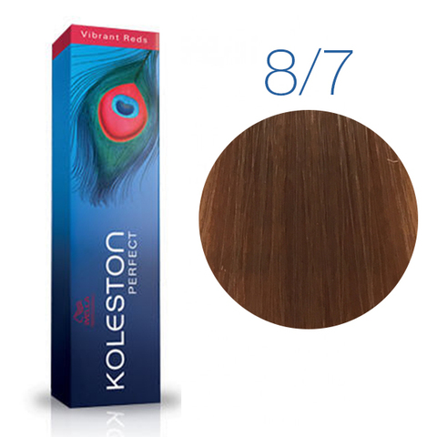 Wella Professional KOLESTON PERFECT 8/7 (Светлый блонд, коричневый) - Краска для волос
