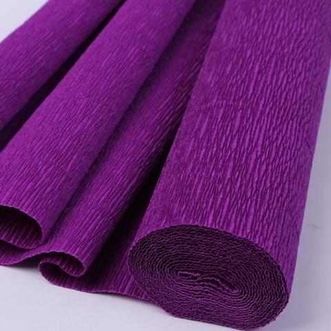 Бумага гофрированная, цвет 993 фиолетовый, 140г, 50х250 см, Cartotecnica Rossi (Италия)