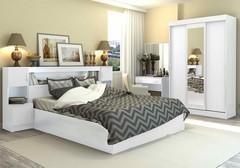 Спальный гарнитур Бася белый Дисави