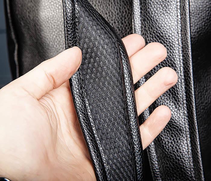 BAG558 Кожаный мужской рюкзак для города фото 07