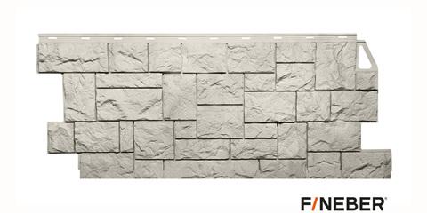 Фасадная панель Fineber Камень дикий жемчужный 1117х463 мм