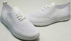 Молодежные кроссовки белые женские текстильные Small Swan NB-821 All White.