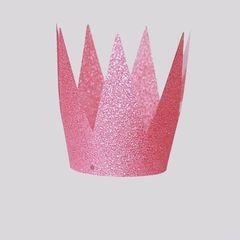 Набор корона королевы, Розовый,10см, 6шт, 1уп.