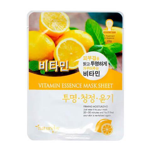 Natureby Тканевая питательная маска для лица с витаминном С 23г