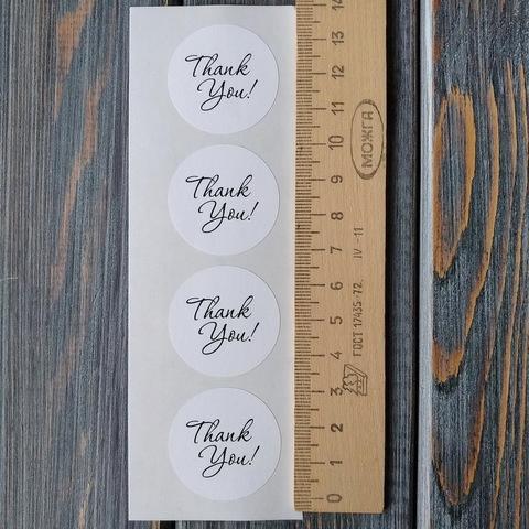 Наклейки THANK YOU - 4шт (круг 32мм)