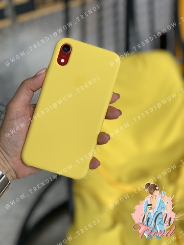 Чехол iPhone XR Silicone Case /canary yellow/