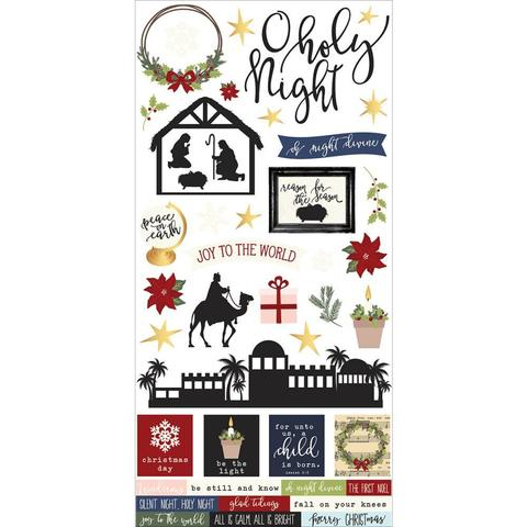 Стикеры Simple Sets O Holy Night Cardstock Stickers