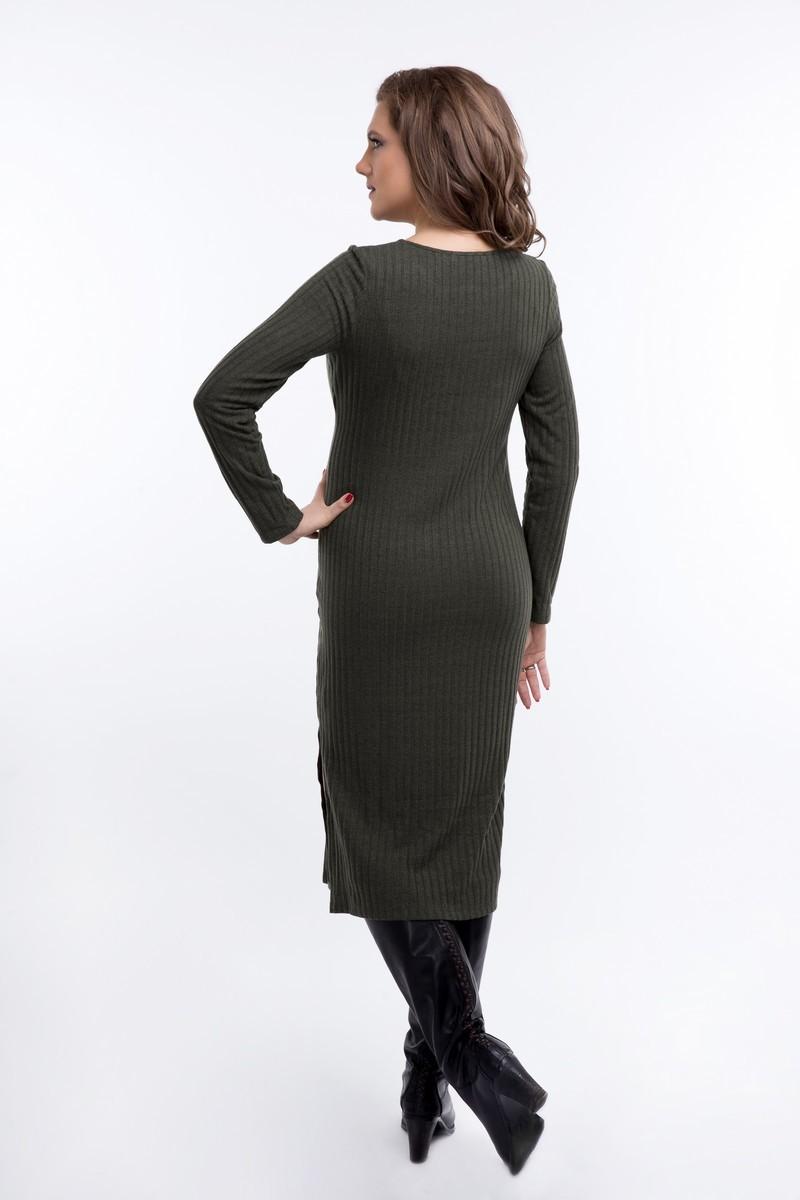 Платье для беременных 08921 зеленый