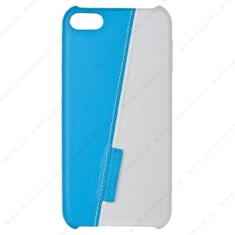 Накладка Jisoncase для iPod touch 5 двухцветная белая/голубая JS-TH5-01H