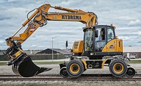 Железнодорожный экскаватор Hydrema MX16 Rail / MX20 Rail