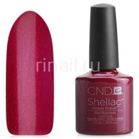 CND Шеллак 7,3 мл, Red Baroness бордовый с микро блестками.