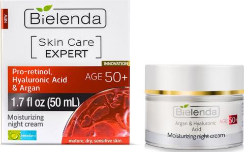Skin Care Expert Увлажняющий ночной крем проретинол, гиалуроновая кислота и аргановое масло 50+ 50мл
