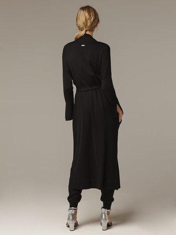 Черный кардиган из струящегося шёлка с кашемиром - фото 4