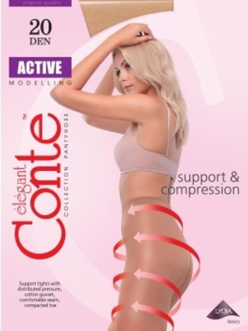 Conte Active Колготки женские 20d, p.3 bronz
