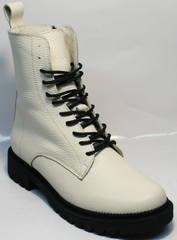 Ботинки женские белые зима Ari Andano 740 Milk Black.