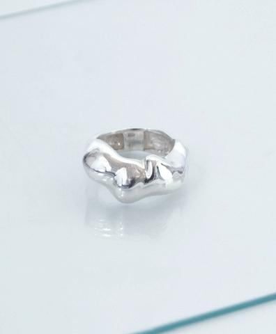 Кольцо форма серебряное
