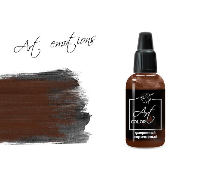 Серия Art Color P-ART339 Краска Pacific88 ART Color Умеренный коричневый (moderate brown) укрывистый, 18мл 339.jpg