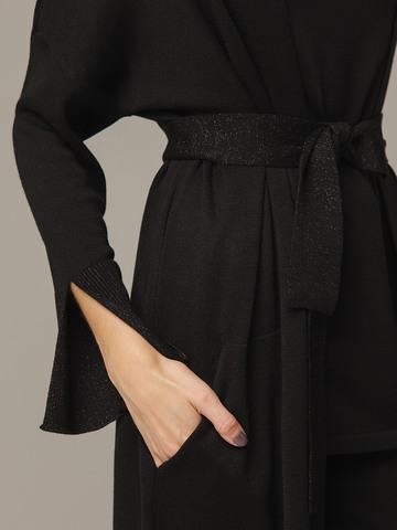 Черный кардиган из струящегося шёлка с кашемиром - фото 3