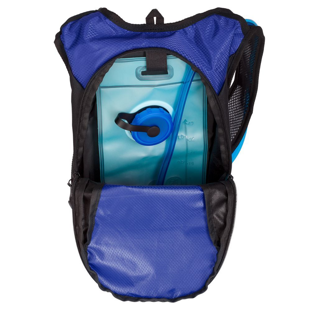Vattern Backpack with Drinking System, black with blue