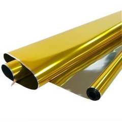 Рулон 0,7 Пленка Металл Золото, 190гр, 70 см*750 см, 40 мкм